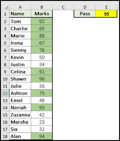 Formula Example Result